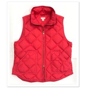 J. Crew Factory Down Filled Pink Puffer Vest